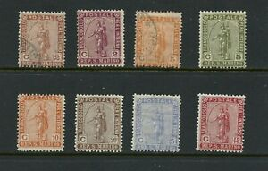 X766-San-Marino-1899-1922-Statue-of-Liberty-8v-MH-used