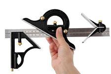 "12"" Combination Square 300mm & Adjustable Protractor Level Measure Measuring Set"
