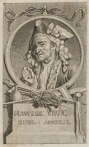 Chodowiecki (1726-1801). ritratti di HAWSER Trunion; pressione grafico 1