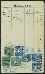Canada-Revenue-Document-with-7-61-Excise-Tax-paid-including-FX62-and-FX89-VF