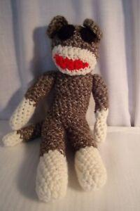 Adorable Hand Crocheted Sock Monkey Plush 12 Toy Easter Gift Ebay