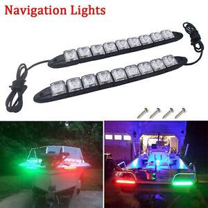 2pcs-LED-Boat-Signal-Nav-Navigation-Light-Strip-Waterproof-Starboard-Port