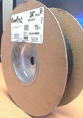 """Techflex CCP0.75BK 3//4/"""" Clean Cut Sleeving Black 50/' Roll"""
