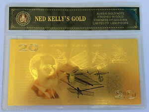 NED-KELLY-039-S-GOLD-20-00-OLD-NOTE-24K-999-GOLD-FOIL-BANK-NOTE-C-O-A-PACK