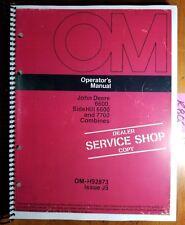John Deere 6600 Sidehill 6600 7700 Combine Owner Operator Manual Om H92873 J5 75