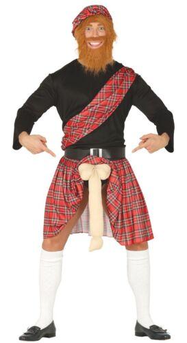 Da Uomo Lampeggiante scozzese Scozzese la notte Stag Do Divertente Costume Vestito