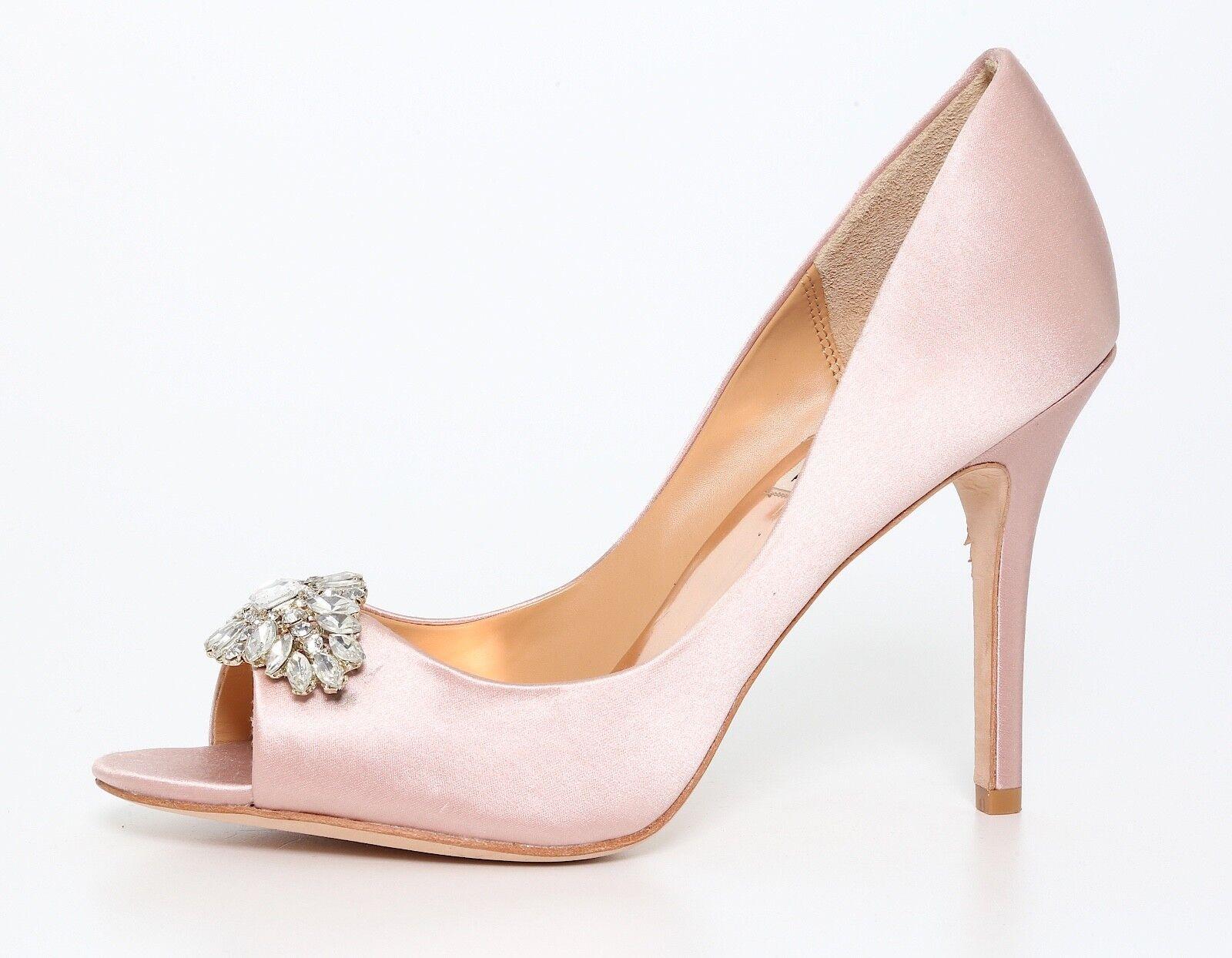 vendite online Badgley Mischka Lavender Peep Toe Satin Pump Light rosa rosa rosa donna Sz 8.5 M 1290  molte concessioni