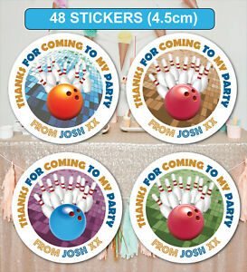 48-Birthday-Party-Bag-Stickers-Sweet-cone-Labels-Bowling-Personalised