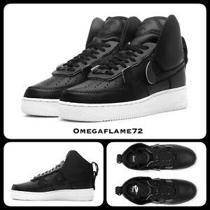 Détails sur Nike Air Force 1 High PSNY, AO9292 002 Tailles UK 8, EUR 42.5, USA 9, Noir, SAILI afficher le titre d'origine