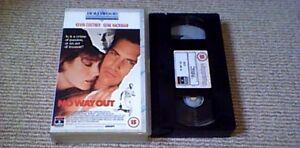 NO-WAY-OUT-UK-PAL-VHS-VIDEO-1989-Kevin-Costner-Gene-Hackman-Sean-Young