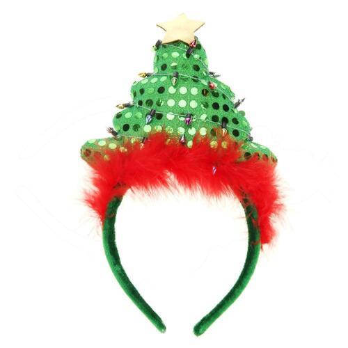 Christmas Headband Santa Xmas Party Decor Hair Band Clasp Head Hoop Xmas Decor