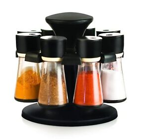Revolving Spice Rack Masala Box Condiment Set 8 Jars Color May Vary