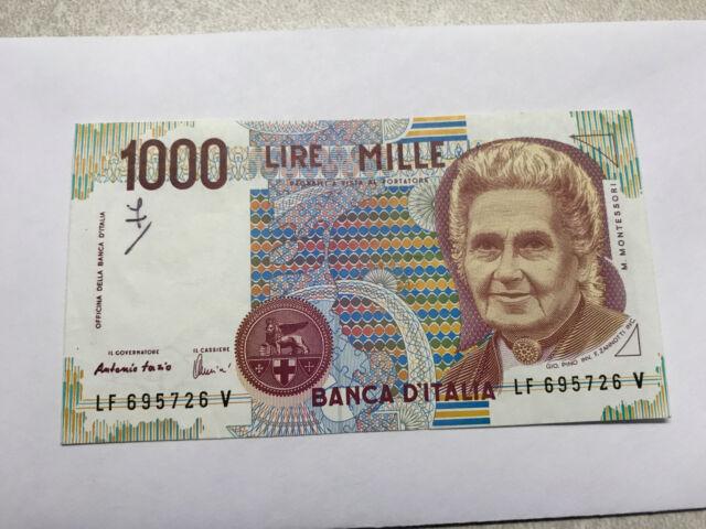 1990 Italy 1000 Lire Notes XF Ink Mark #5069