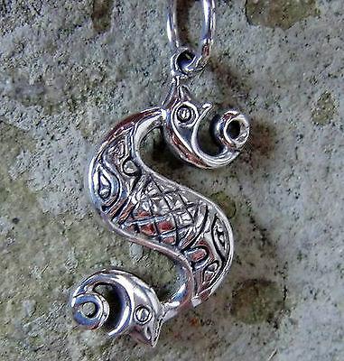 Schnelle Lieferung Keltisches Seepferd Anhänger Groß 925 Sterlingsilber Ausgeglichenheit Harmonie Ausgezeichnete (In) QualitäT