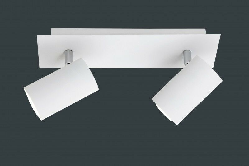 LED ceiling bar spotlight adjustable spots 2 x 35 watt metal Weiß glass 42370