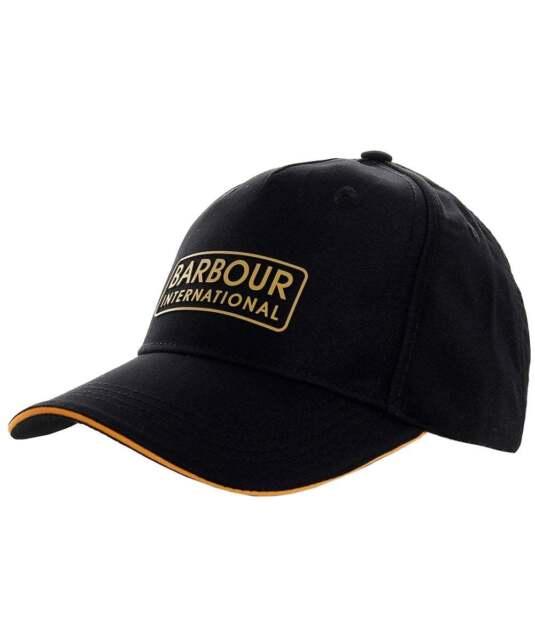 Mens Barbour International Hudson Baseball Sports Cap Hat BNWT OSFM Black 04a2befa46aa