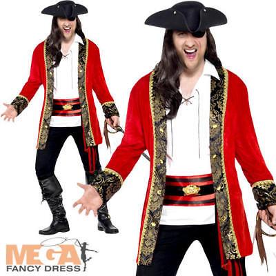One Size BUCCANEER CARIBBEAN PIRATE CAPTAIN SHIRT mens fancy dress costume