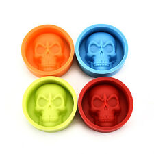 New Food Grade Skull Muffin Cup Silicone Mold Cake Pudding Chocolate Ice Mould