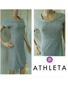 1761c79f864 Image is loading ATHLETA-Alta-Sweater-Dres-Heather-Gray-Organic-Cotton-
