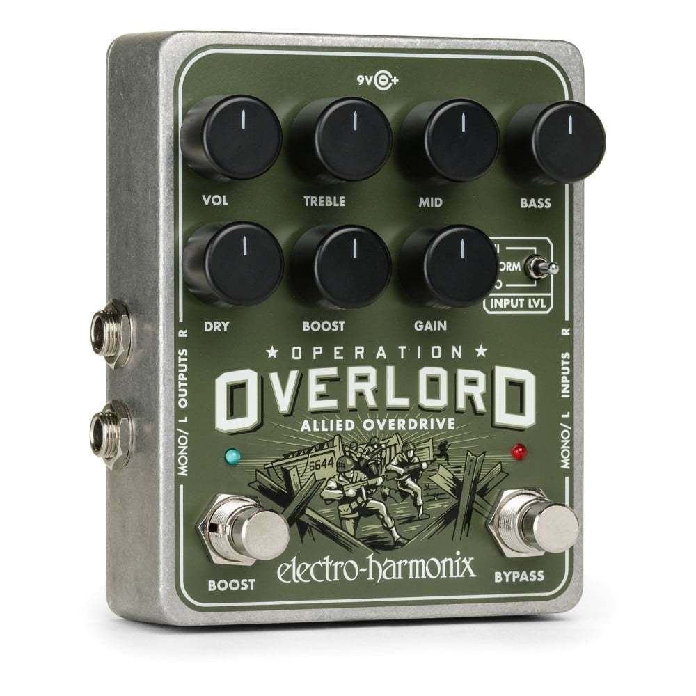 Electro Harmonix Operation Overlord Allied Overdrive Guitar Effects Pedal