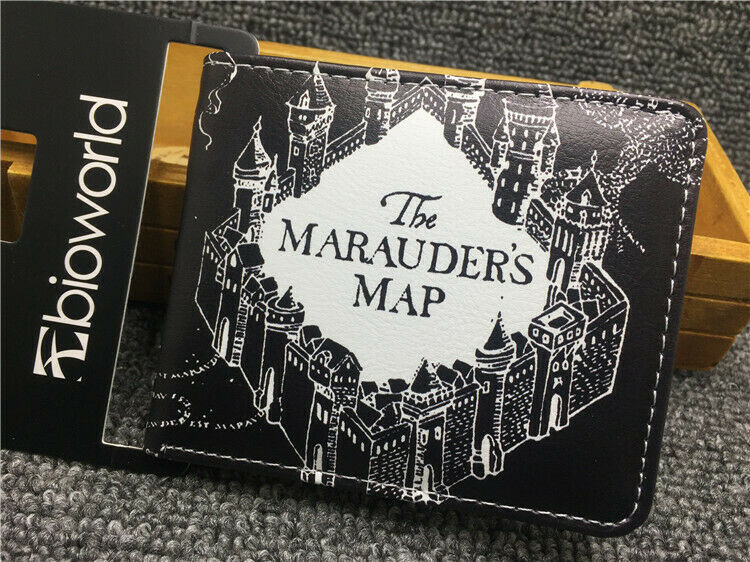 Harry Potter Bifold Wallet Hogwarts Mystery The Marauder's Map Coin Purse Gift