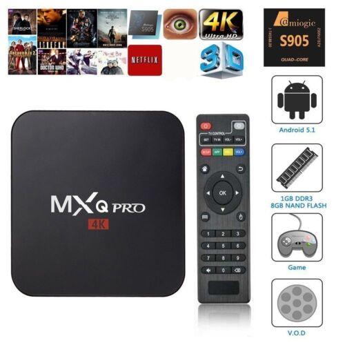 MXQ PRO Android 7.1 HD 4K Wifi Smart TV BOX S905W Quad Core 3D TV Media Streamer