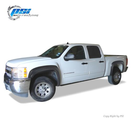 """Black Paintable OE Style Fender Flares 07-13 Silverado 1500 Short Bed 69.3/"""" Only"""