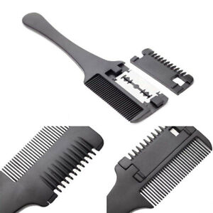 Double-Sides-Hair-Cutting-Thinning-Hair-Razor-Comb-Trimmer-with-Blades-DIY-Tools