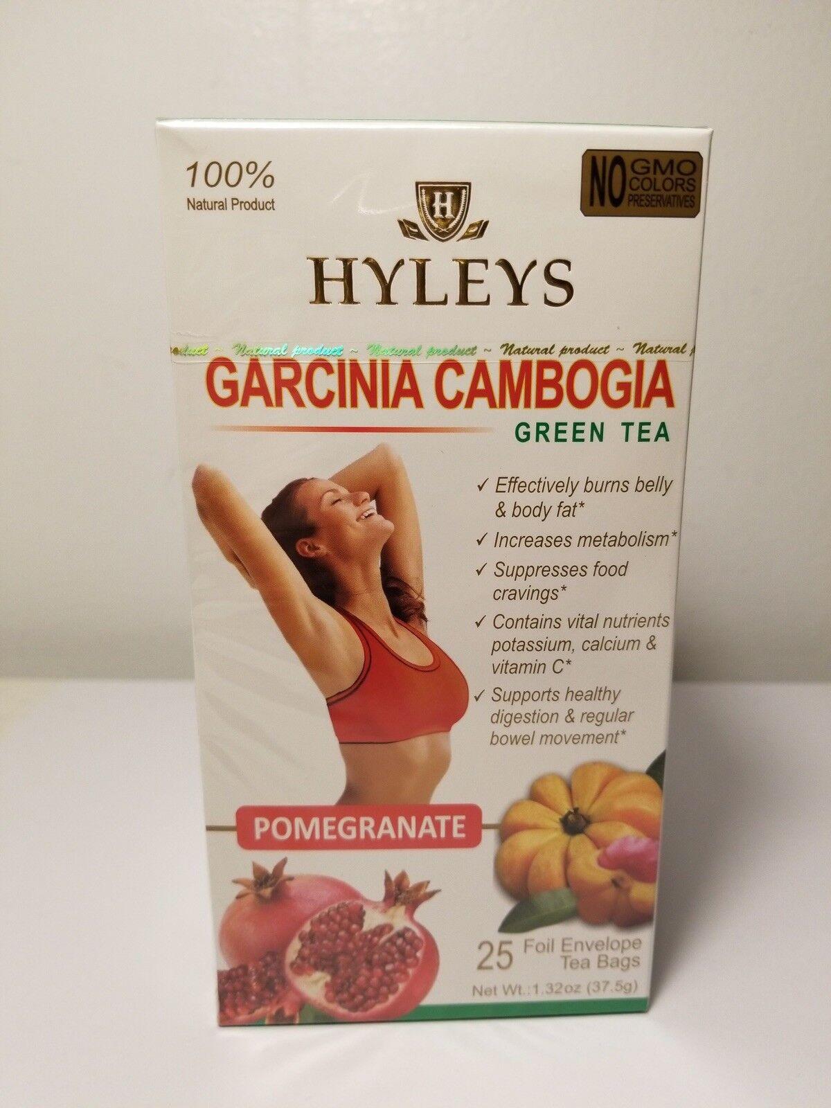 2 Boxes Hyleys Garcinia Cambogia Green Tea Pomegranate 100 Natural