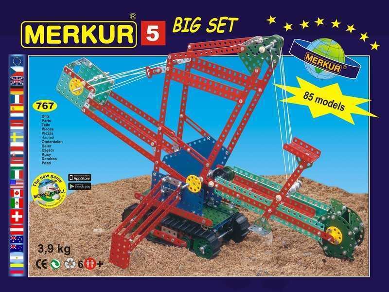 Metal construction set Merkur M5, 3,9 kg, NEW, made in CZECH REPUBLIC