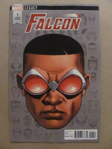 Falcon #1 Marvel Legacy 2017 Series Headshot Variant 9.6 Near Mint+
