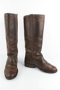 Stivali donna cammello con i talloni di spessore di 4,5 cm