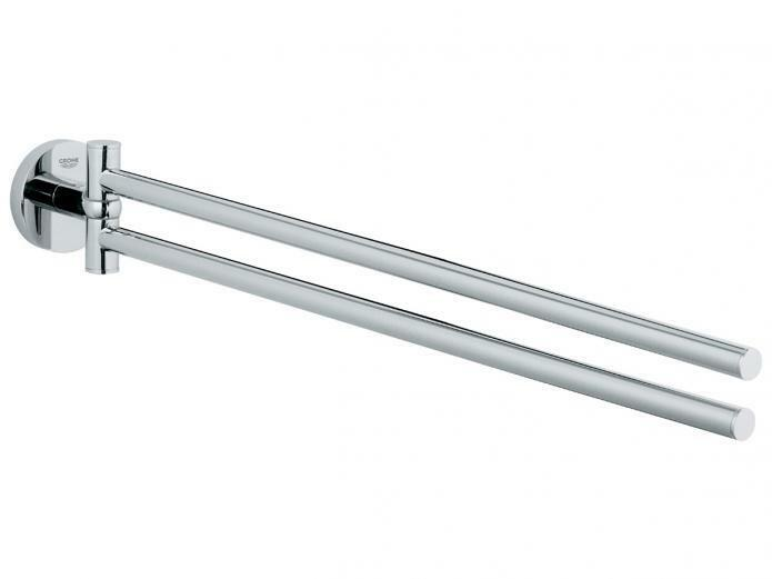 Grohe ESSENTIALS ADJUSTABLE TOWEL RAIL 449mm Pivotable Pivotable Pivotable CHROMEGerman Brand 701322