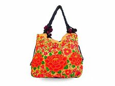 Large Embroidered Hmong Summer Tote Bag Purse Thailand WHOLESALE AVAILABLE
