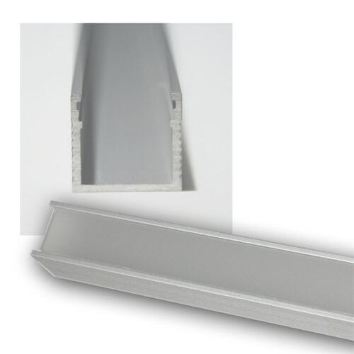 ALU Leiste inkl 1m LED Aluminium-Profil Schiene POLARUS Abdeckung OPAL