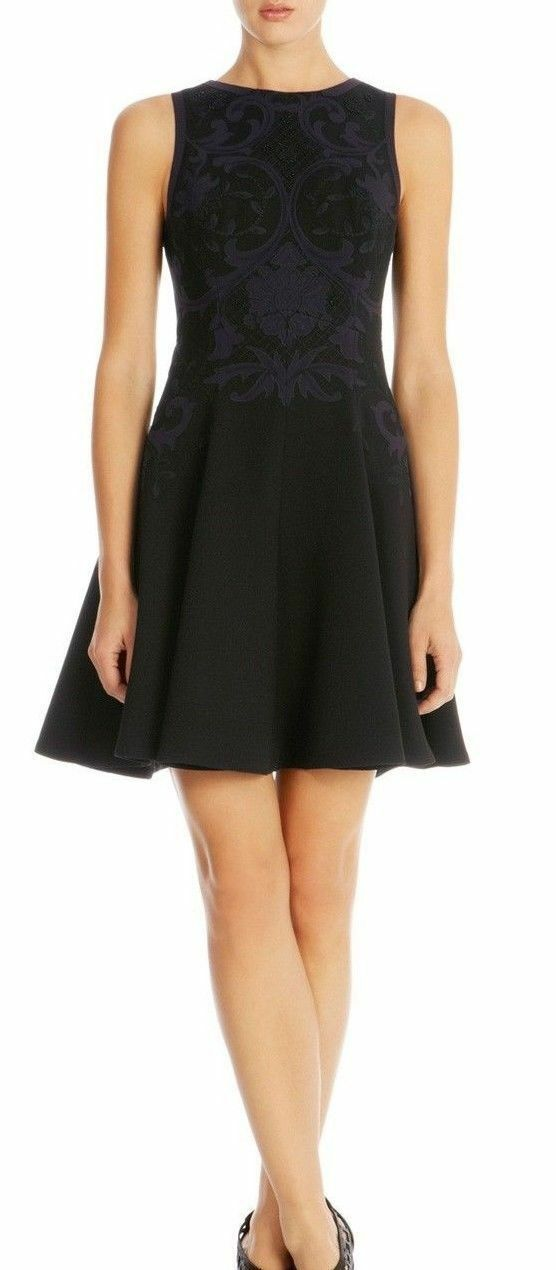 Karen Millen DR158 Baroque Embroidery Dress RRP  Größe US 8,