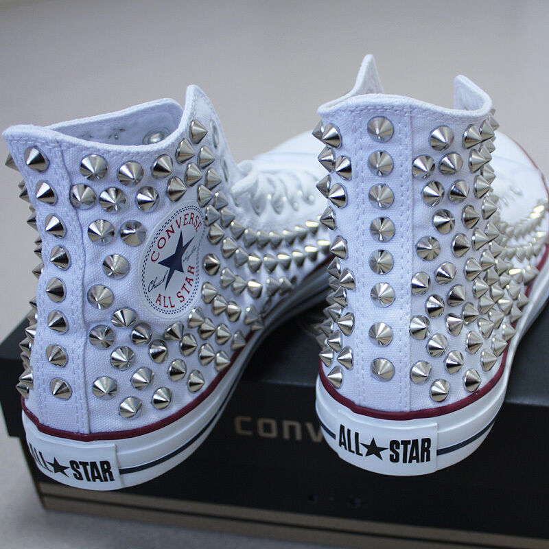 Genuine CONVERSE All-star Reform Studded Turnschuhe Sheos Weiß