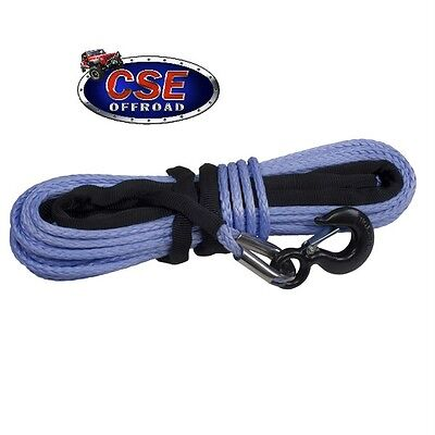Synthetic Winch Rope 11//32 x100/' Dyneema SK-75 for Jeep 4X4 Rugged Ridge