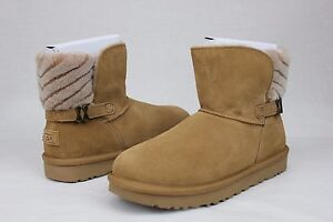 1a655523e41 UGG ADRIA CHESTNUT WOOL SUEDE FASHION WARM BOOTS SIZE 9 US ...