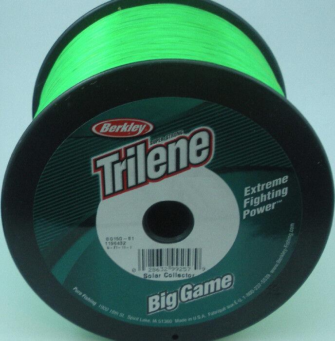 Berkley 1002984 BG320-81  20 Lb Big Game Mono Line 3 Lb Spool Solar Green 10569