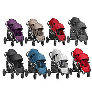 NEW-Baby-Jogger-City-Select-2017-Double-Tandem-Stroller-Pram-w-2nd-Seat