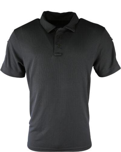 Maglietta Polo KOMBAT tattico nero Tasche manica di polizia di sicurezza