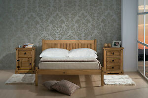 Wooden-Framed-Pine-Bed-Frame-With-Headboard-3FT-4FT-4FT6-and-Mattress-Options