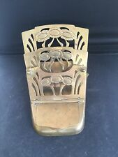 ART NOUVEAU BRASS MECHANICAL STAMP & LETTER HOLDER - D.R.G.M. 237670 - GES-GESCH