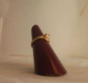 14K Gold plated Flower Rose Bud Ring Sizes 1-2-3-4-5 Li