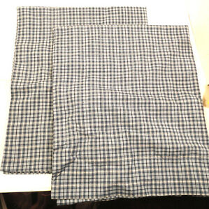 Blue-Plaid-Indian-100-Cotton-Bedroom-Pillow-Shams-Covers-21-034-x-27-034-Standard