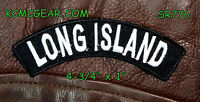 Long Island Embroidered Small Top Rocker Patch Biker Patches