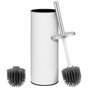 Toilet Brush - Vinfact Silicone in White - A touch of Bathroom Elegance