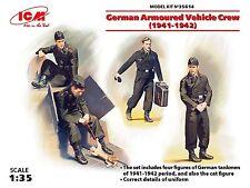 ICM 1/35: 35614 Deutsche Panzerwagen-Besatzung (1941-42), 4 Figuren und Katze
