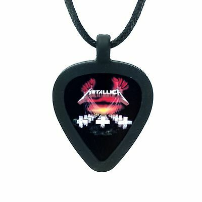 GUITAR PICK Necklace by Pickbandz PICK HOLDER in Black w/ LIMITED Metallica Pick